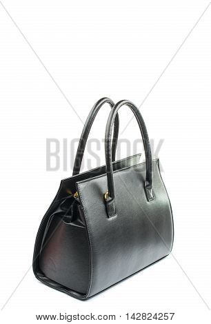 female black bag on a white background