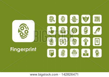 It is a set of fingerprint simple web icons