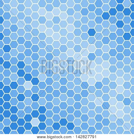 Bright blue hexagons vector background