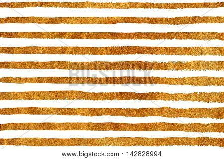 Golden Grunge Stripe Pattern.