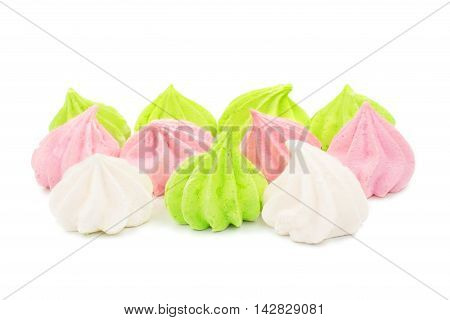 meringue  vanilla, cookie, confection on a white background