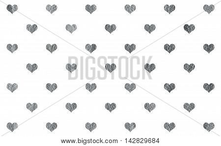 Silver Shining Texture With Hearts.