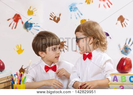 Two Boys Are Playing Together