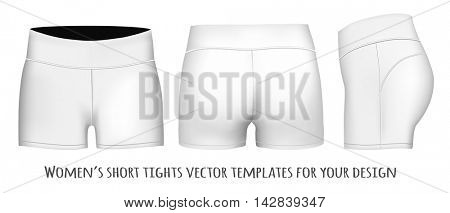 Women short tights. Fully editable handmade mesh. Vector illustration.