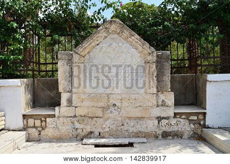 Rethymno city Greece turkish fountain landmark architecture