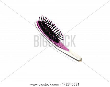Hairbrush Isolated On White