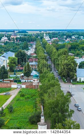 Main Street Of Suzdal City Aerial View, Russia