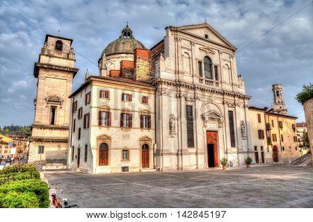 Facade of the church San Giorgio in Braida Verona Veneto Italy (with HDR-effect)