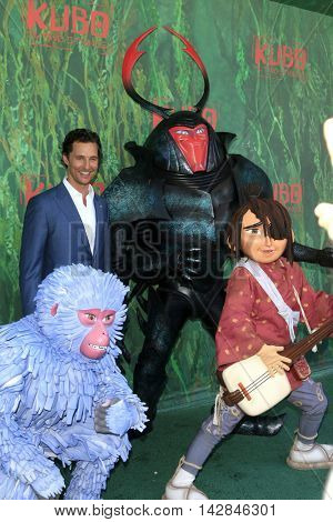 LOS ANGELES - AUG 14:  Matthew McConaughey, Kubo, characters at the