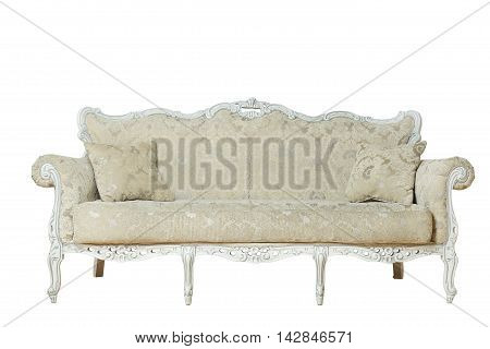 Luxurious gray armchair isolated on white background