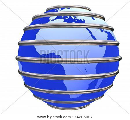 Blue Trapped Earth Planet