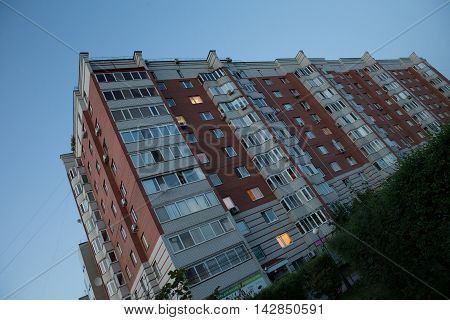 New apartment building in uptown area of Tyumen