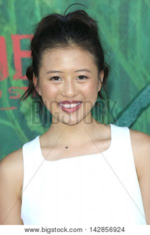 LOS ANGELES - AUG 14: Haley Tju at the premiere of Focus Features' 'Kubo and the Two Strings' at AMC Universal City Walk on August 14, 2016 in Los Angeles, California