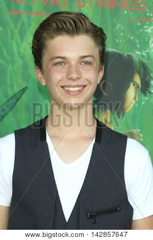 LOS ANGELES - AUG 14: Jacob Hopkins at the premiere of Focus Features' 'Kubo and the Two Strings' at AMC Universal City Walk on August 14, 2016 in Los Angeles, California