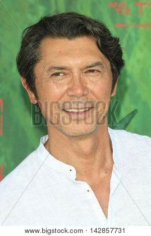 LOS ANGELES - AUG 14: Lou Diamond Phillips at the premiere of Focus Features' 'Kubo and the Two Strings' at AMC Universal City Walk on August 14, 2016 in Los Angeles, California
