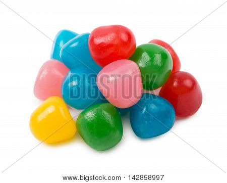 The fruit candies isolated d d d