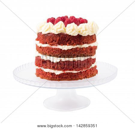 Cake the red velvet isolated d d