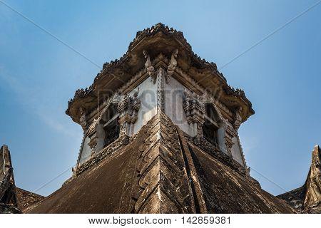 Patuxai arch monument, Vientiane, the Capital of Laos