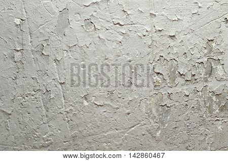 Brick Wall With Whitewashing By Closeup