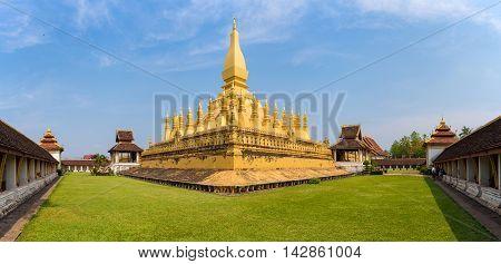 Wat Phra That Luang at Vientiane, Laos