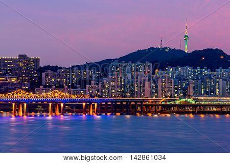 Korea,seoul At Night, South Korea City Skyline