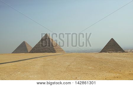 Pyramids of a Giza. Egypt. September 2008.