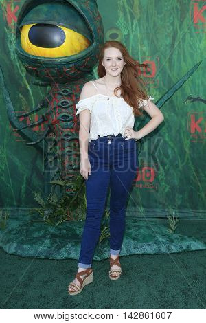LOS ANGELES - AUG 14: Kaitlyn Mackenzie at the premiere of Focus Features' 'Kubo and the Two Strings' at AMC Universal City Walk on August 14, 2016 in Los Angeles, California