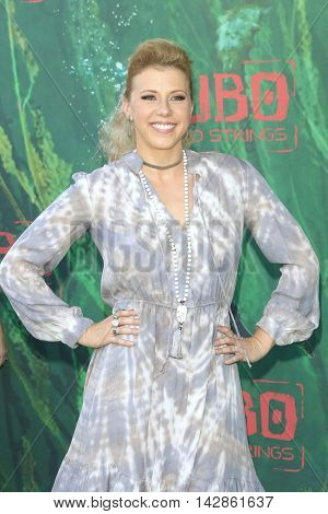 LOS ANGELES - AUG 14: Jodie Sweetin at the premiere of Focus Features' 'Kubo and the Two Strings' at AMC Universal City Walk on August 14, 2016 in Los Angeles, California