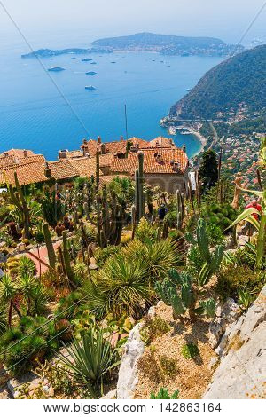 View From The Exotique Garden In Eze On Cote Dazur