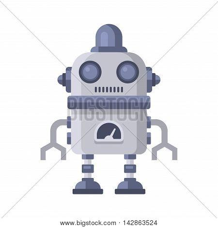 Fiction Robot on White Background. Vector Illustration.