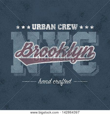 New York typography, t-shirt graphics, vectors