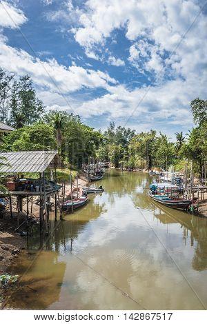 Fishing Village at Koh Phangan, Suratthani, Thailand