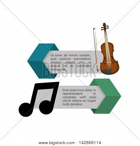 cello infographic music sound icon. Flat and Colorful illustration. Vector illustration