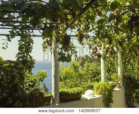Greece traditional marvelous sunny landscape Paleokastritsa, Corfu
