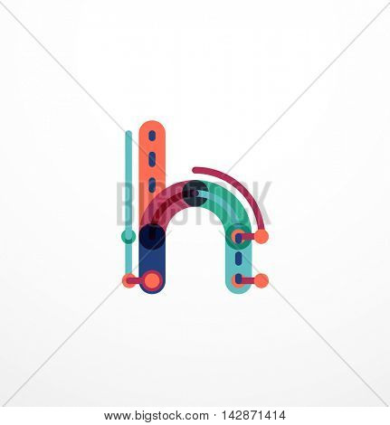 Cartoon linear letters icons. Modern funny logo concept