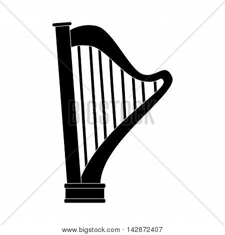 harp instrument musical lyre classic old play vector  isolated illustration