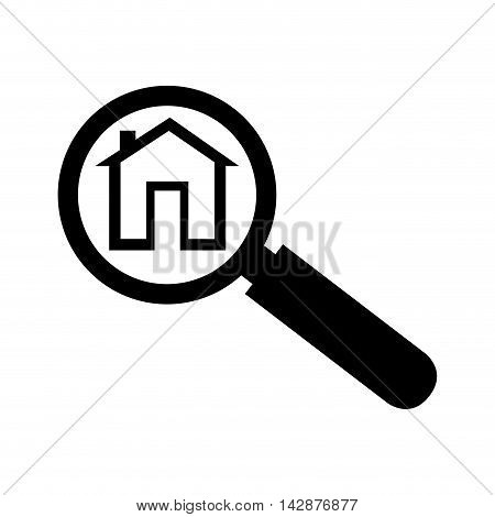 house lupe search home analyzing lens real vector  isolated illustration