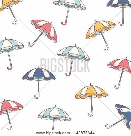 background parasol umbrella striped rain handle color vintage vector  illustration