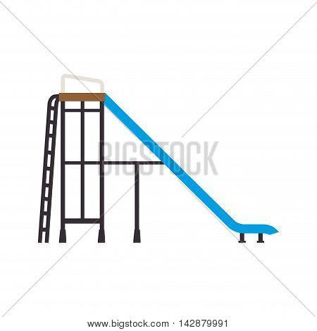 slider playground recreation game children kid side vector  isolated illustration