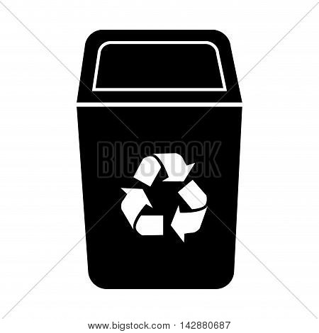 bin recycle ecology container environment trash junk vector  isolated illustration