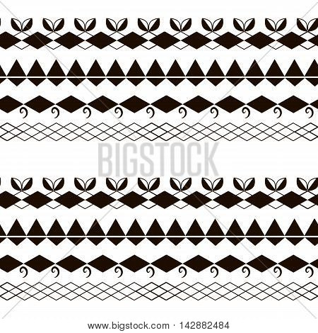 Seamles pattern. Vector flat background. Ethnic style. Black and white. Seamless pattern can be used for wallpaper pattern fills web page backgroundsurface textures. seamless background. Abstract geometric ornament.