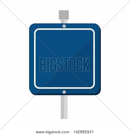 blue sign traffic vehicle highway placard road route vector  isolated and flat illustration
