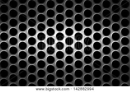 black chrome grille. metal background and texture. 3d illustration.