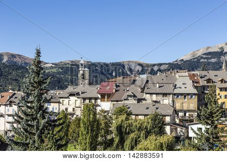 Seyne Les Alpes In The French Region Provence Des Haut Alpes