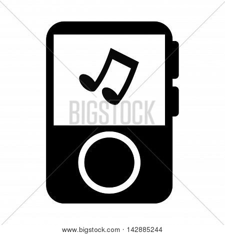 mp3 player music song note musical portable audio track vector  isolated and flat illustration