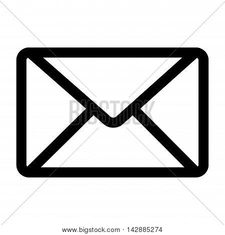mail envelope post postal correspondence letter post newsletter vector  isolated and flat illustration