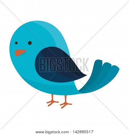bird fly cute animal wing chick nature social network icon  vector  isolated and flat illustration