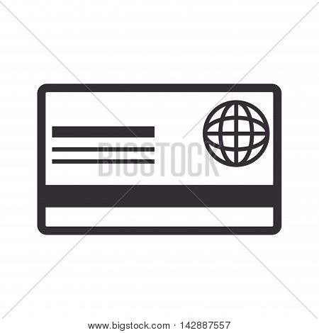 card debit global  credit money pay chip transaction plastic  money vector  isolated and flat illustration