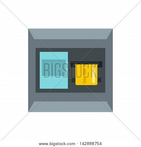 ATM machine icon in flat style isolated on white background