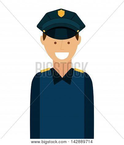 police law isolated icon vector illustration design